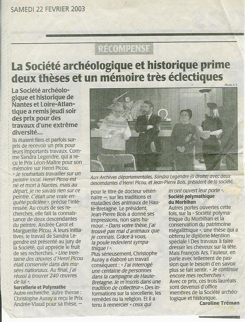 Presse océan 23 fév 2003
