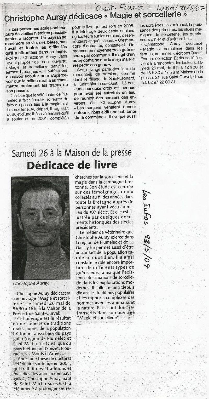 Of 21 mai 2007 guer